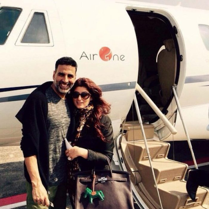 akshay kumar with with personal jet