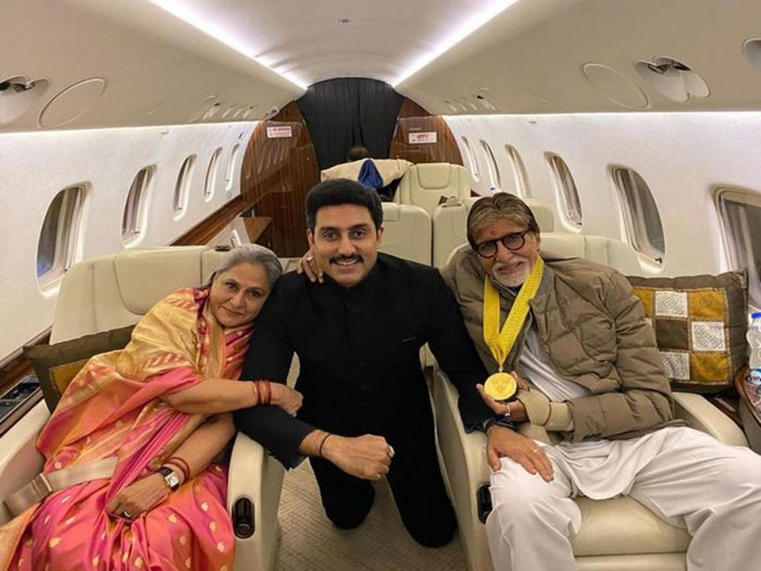 amitabh bachchan with perosnal jet