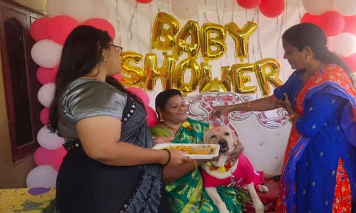 family-throws-pet-female-dog-baby-shower-in-tamil-nadu